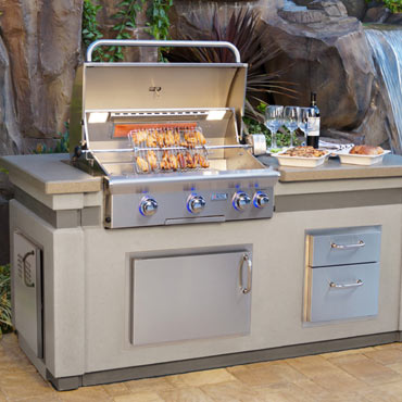 grilling with American built-in gas grills