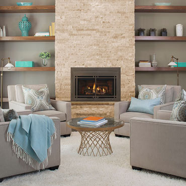 Majestic gas hearth fireplace