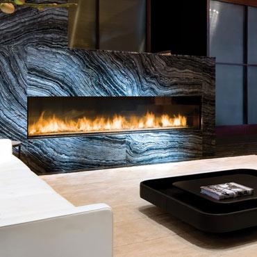 Montigo linear hearth gas fireplace
